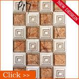 Azulejos de cerámica grabados de la pared del modelo de la separación del cuero 3D del Faux