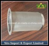 Filtro perfurado do cilindro do engranzamento de fio do aço inoxidável