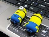 Подгонянный привод вспышки USB миньона шаржа PVC/Silicone