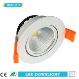 3W la lámpara Dimmable LED de la bombilla de techo de la MAZORCA LED abajo se enciende