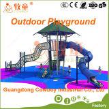 Diapositivas al aire libre determinadas del plástico del equipo del patio del juego de los cabritos (WOP-046B)