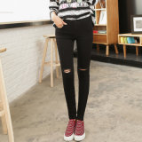 2017 Spring Denim Designer Ladies Light Black Jeans