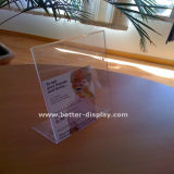 Houder van het Menu van de douane de Acryl L-vormige Plastic (btr-I 6004)
