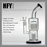 Nuevas llegadas 11 pulgadas 20 brazos de tuberías de agua de vidrio Toro Pyrex para fumar con 2 perc