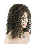 "18 ""4 # Jerry Curl Full Lace Wig"