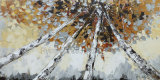 Peinture acrylique moderne d'art de pétrole d'horizontal