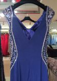 Blaues Abend-Kleid, Partei-Kleid, Hochzeits-Kleider