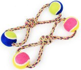 Dog Rope Toys com duas bolas de tênis / Toy Pet (KBR025)