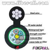 Le schéma 8 fibres autosuffisantes de câble optique de fibre de suspension de Gytc8y 96