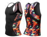 Man's Respirable Compression Skin Tank Top Fitness Gym Ropa de Deporte