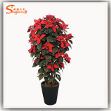 2016 Venda quente Flor artificial de seda de bonsai de Natal artificial