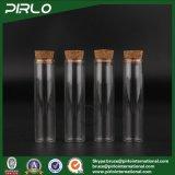 15ml0.5ozは木製のコルクの香水の装飾的なガラスコルクのびんが付いているコルクストッパーゆとりのガラスガラスびんが付いているガラスまっすぐな側面のびんを取り除く