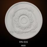 Dekoratives Rose PU-Decken-Leuchter-Medaillon Hn-016