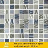 Mosaico di pietra di cristallo di colore della miscela con superficie modellata