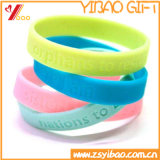Grânulo colorido do silicone de e bracelete do silicone do Wristband do Wristband de borracha (XY-HR-104)
