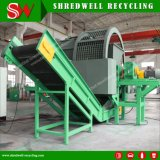 Shredder Ts1200 do pneu da sucata com o Thrommel para o recicl Waste do pneumático