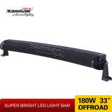barra ligera doble curvada campo a través brillante estupenda de la fila LED de 33inch 180W