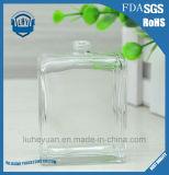 frasco de perfume de vidro retangular desobstruído sem chumbo da classe 55ml elevada