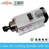 Asse di rotazione raffreddato aria ad alta frequenza dell'asse di rotazione 400Hz 24000rpm 2.2kw con l'installazione della flangia