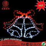 休日のLEDロープライトモチーフの鐘のクリスマスの装飾的なライト