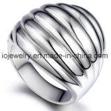Joyas de moda anillo de espejo pulido