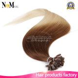 12-30毛のブラジルのRemyの人間の毛髪のケラチンの融合の毛の拡張インチの110g 100の繊維Uの先端の釘の先端の毛の拡張