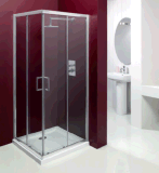 목욕탕 6mm 강화 유리 구석 등록 샤워 문 울안 (MCE9090)