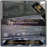 Porte d'entrée en aluminium décoratif de villa