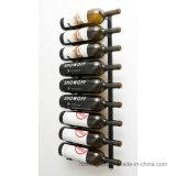 La crémaillère fixée au mur de vin en métal de bouteille de la série 9 de mur met l'étagère en bouteille de mémoire