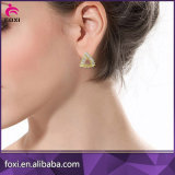 Neuestes Entwurfs-Form-Schmucksache-Kupferkubikzirconia-Ohrring für Frauen