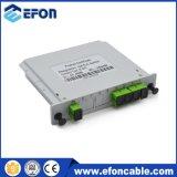 Gpon 1 4 divisori ottici della fibra, contenitore ottico di divisore della fibra del PLC dell'OEM 1X2, 4 divisore di memoria di modo 144