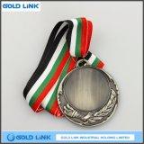 La moneta su ordinazione d'ottone antica di sfida delle medaglie del metallo della medaglia d'argento della pressofusione