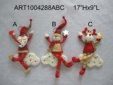 Ressort jouets à jambes de décoration de vacances de garde d'enfants de Santa et de bonhomme de neige, décoration d'Asst-Noël 3