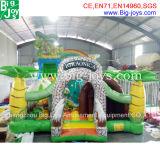 Glissière gonflable extérieure gonflable avec mur d'escalade, trampoline gonflable géant