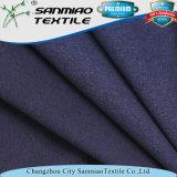 El añil 93%Cotton 7%Spandex escoge la tela de Jersey para las camisetas