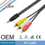 Кабели RCA кабеля OEM 3.5mm AV цены по прейскуранту завода-изготовителя Sipu тональнозвуковые