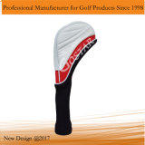 새로운 디자인 백색 PU 가죽 골프 Headcover