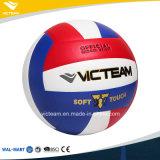 Bola de cuero sintetizada herida de nylon del voleibol