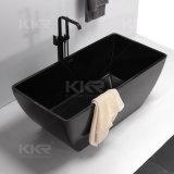 Moderne schwarze feste freistehende Oberflächenbadewanne für Badezimmer