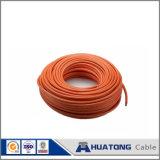 Do cobre elétrico revestido da única costa do fio do PVC fio elétrico