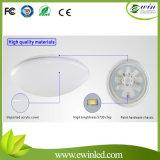 8W luz de techo ultra delgada decorativa casera redonda del cristal LED con la garantía de tres años
