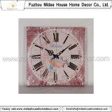 Disegno di legno quadrato afflitto dell'orologio di parete