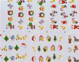 Etiqueta do prego das etiquetas da arte do prego de transferência da água de Santa do boneco de neve do Natal