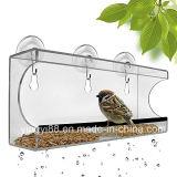 Изготовленный на заказ акриловый фидер птицы окна с супер сильными чашками всасывания