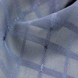 Tessuto chiffon del jacquard a strisce metallico blu del filato