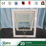 Plastic Sound Insulation Awning Window with Blinds Design