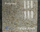 Гранит подгонянный G682 естественный желтый ржавый