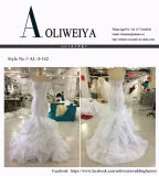 Aoliweiya Brand New Real Wedding Dress com saia Ruffles