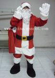 Traje de la mascota del equipo de la Navidad