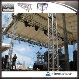 Torre de aluminio manual de la elevación del braguero para el concierto al aire libre